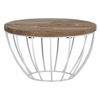 Foto van Coffee table Madison small, White Ø60 cm