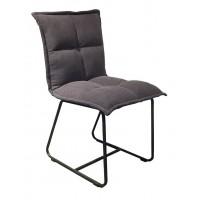 Foto van Side chair Cloud cotton charcoal (set van 2) ML