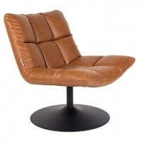 Foto van Bar fauteuil vintage brown