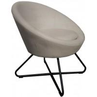 Foto van Lounge chair Cuddley Slate grey