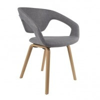 Foto van Armchair Flexback naturel/lightgrey (set van 2)