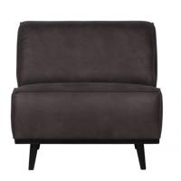 Foto van Statement fauteuil - eco leer grijs