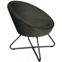 Foto van Lounge chair Cuddley Dark grey ML