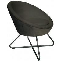 Foto van Lounge chair Cuddley Dark grey