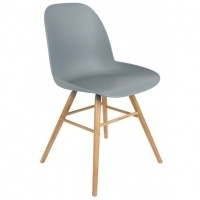 Albert kuip chair light grey 2 st.