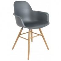Foto van Albert kuip arm chair dark grey 2 st.