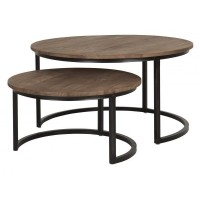 Foto van Side table round low, set of 2 FD