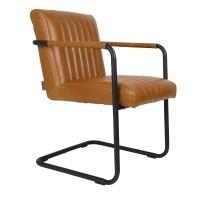 Foto van Stitched armchair cognac set van 2
