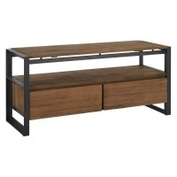 Foto van Tv stand, 2 drawers, 1 open rack 120 cm
