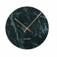 Foto van Clock marble time green