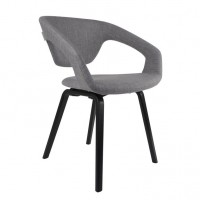 Foto van Armchair Flexback black/lightgrey (set van 2)