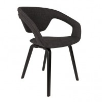 Foto van Armchair Flexback black/darkgrey (set van 2)