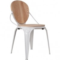 Foto van Chair Louix naturel /white (set van 2)