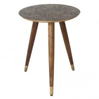 Foto van Bast side table brass