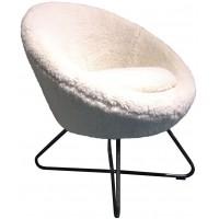 Foto van Lounge chair Cuddley Huggy white