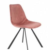 Franky Velvet chair old pink - set van 2