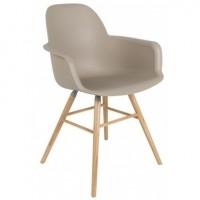 Foto van Albert kuip arm chair taupe 2 st.