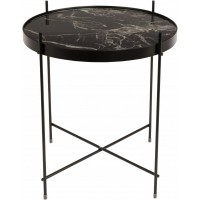 Foto van Side table cupid marble black
