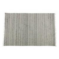 Fields gestreept vloerkleed katoen/wol grijs