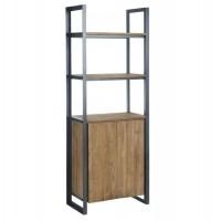 Foto van Bookcase high, 2 doors, 3 open racks