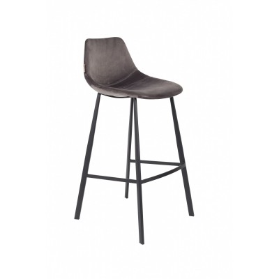 Franky bar stool - grey - set van 2