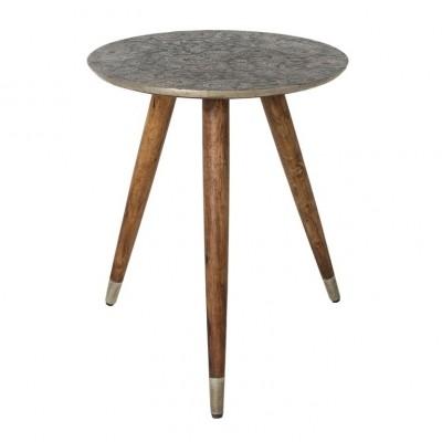Bast side table metal