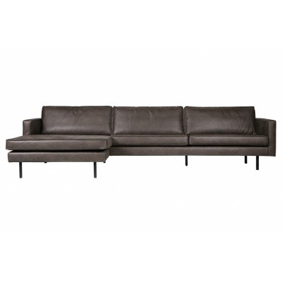 Rodeo chaise longue links - zwart