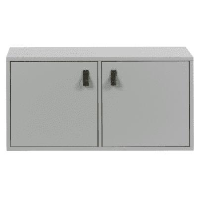 Vt lower case two doors grenen betongrijs