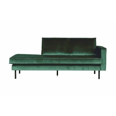 Rodeo velvet daybed rechts - green forest