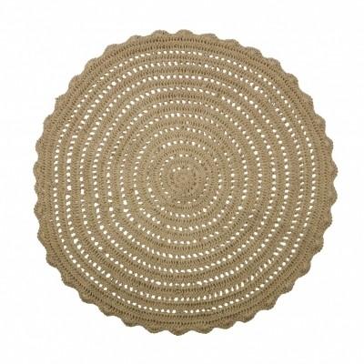 Corn circle vloerkleed crochet naturel 150cm