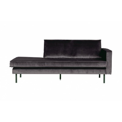 Rodeo velvet daybed rechts - antracite