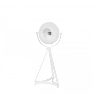 Blown tafellamp metaal wit