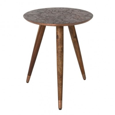 Bast side table copper