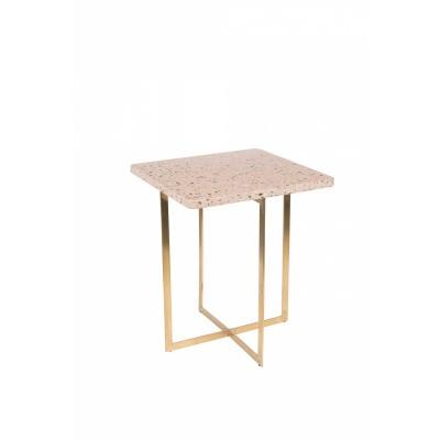 Luigi side table square pink