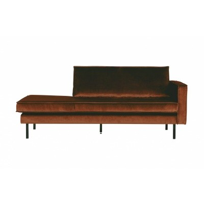Rodeo velvet daybed rechts - roest