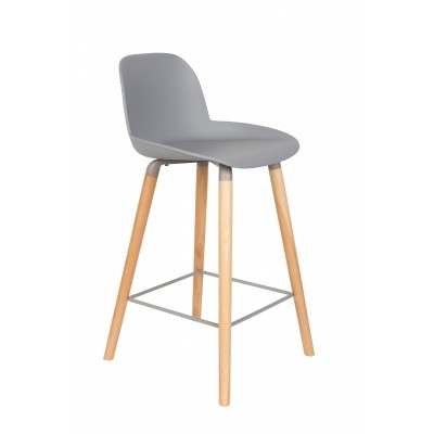 Albert Kuip counter stool light grey - set van 2