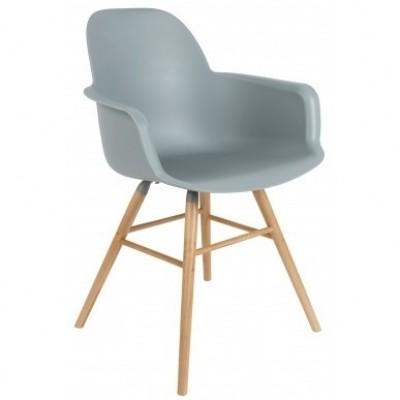 Albert kuip arm chair light grey 2 st.