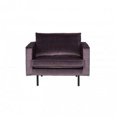 Rodeo fauteuil velvet grijs