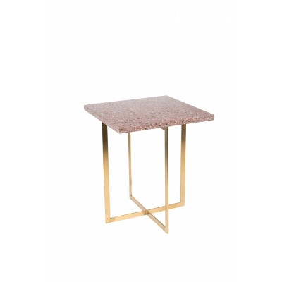 Luigi side table square dark red