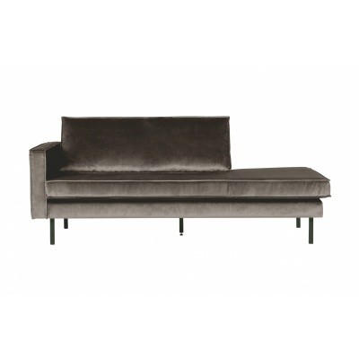 Rodeo velvet daybed links - taupe