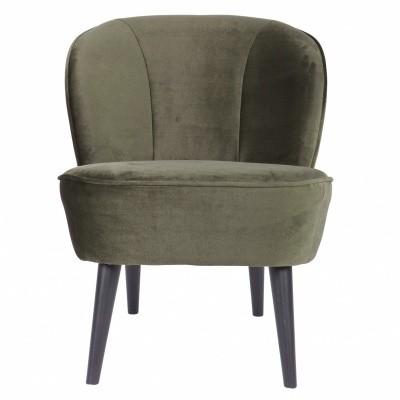 Sara fauteuil fluweel warm groen