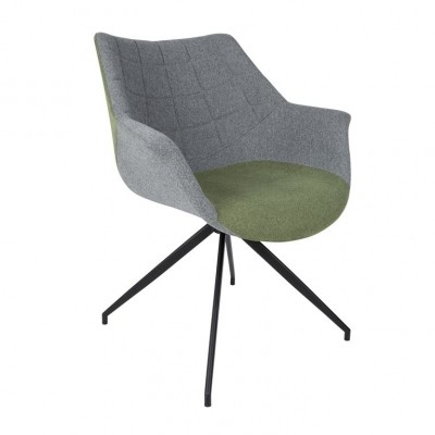 Armchair Doulton green/grey ( set van 2)
