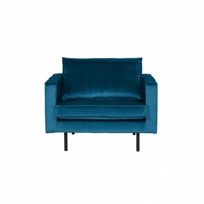 Rodeo velvet armchair blauw