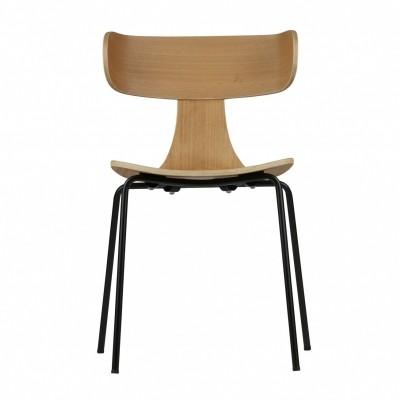 Form houten stoel naturel - set van 2