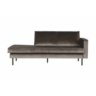 Rodeo velvet daybed rechts - taupe