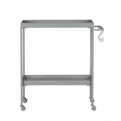 Stack-it low tea trolley metaal betongrijs