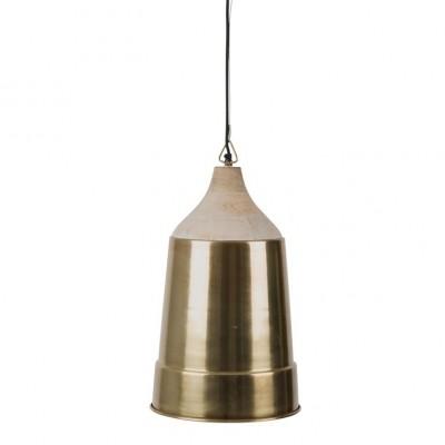 Wood Top pendant lamp messing