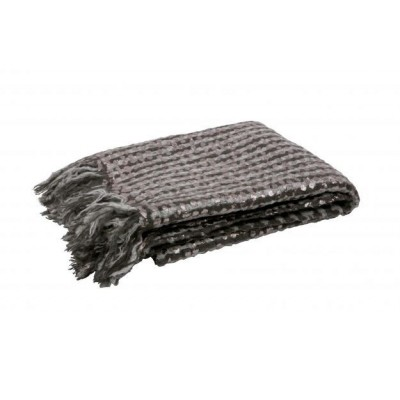 Foil plaid mohair grijs 130x170