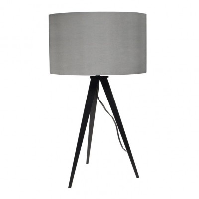 Tripod table lamp grey