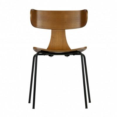 Form houten stoel bruin - set van 2